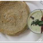 Multi Legume Dosa/Crepe with Coconut Chutney