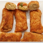 Chicken, Veg and Meat Rolls