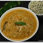 Green peas in a ground coconut sauce / Green peas curry