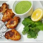 Tandoori Chicken with Green Chutney