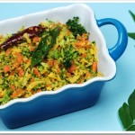 Broccoli and Carrot Thoran
