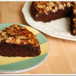 Chocolate Almond Upside-Down Cake