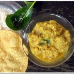 Chena Koottan / Elephant Yam in a Ground Coconut Sauce
