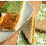 Veggie and Mint Chutney Sandwich