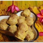 Munthiri kothu / Roasted green gram and jaggery balls