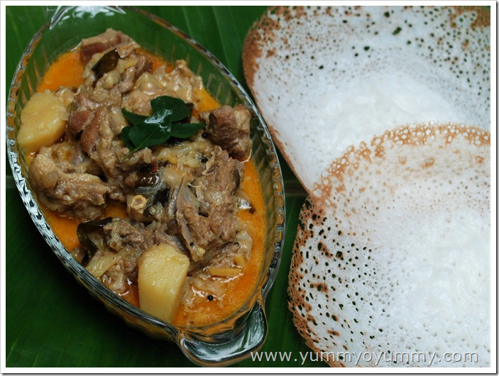 Mutton curry with coconut milk for Cuisine kerala