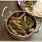 Vazhuthananga Mezhukkupuratti / Brinjal Stir-fry