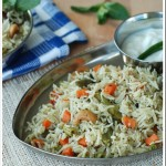 One Pot Vegetable Biriyani – Pressure Cooker Version