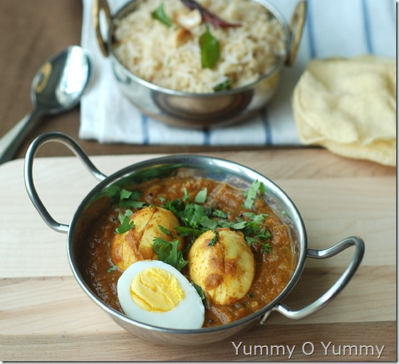 Chettinad egg curry
