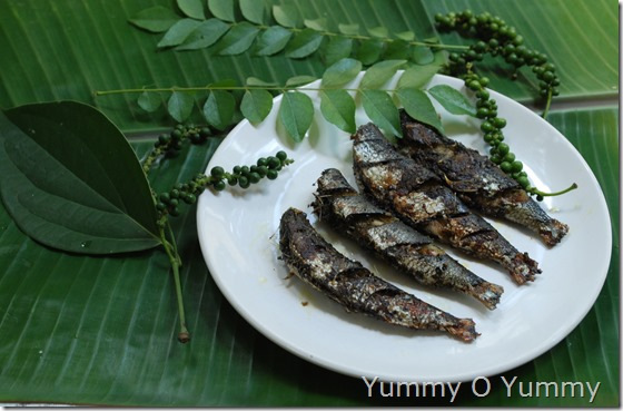 Sardine - green pepper fry
