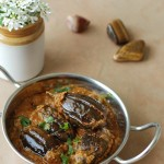 Gutti Venkaya Kura / Baby Eggplants in a spicy and tangy tamarind sauce