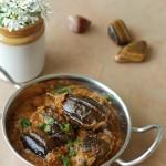 Gutti Venkaya Kura / Baby Eggplants in a spicy and tangy tamarind sauce
