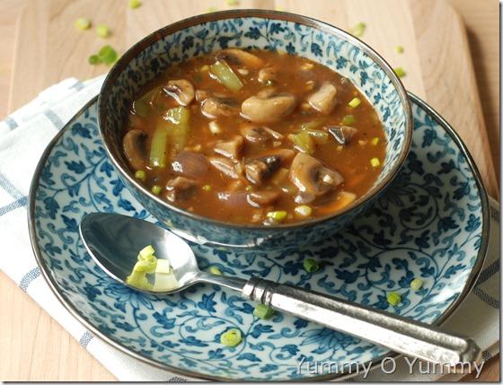 Chilly mushroom (gravy)