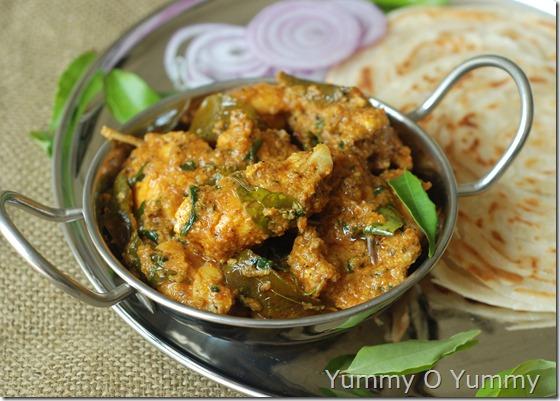 Curry leaf pepper chicken