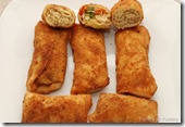 Chicken, veg and meat roll