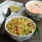 Quinoa Pulav with Carrot Raita