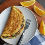 Vegetable Stuffed Omelet / Egg Recipes
