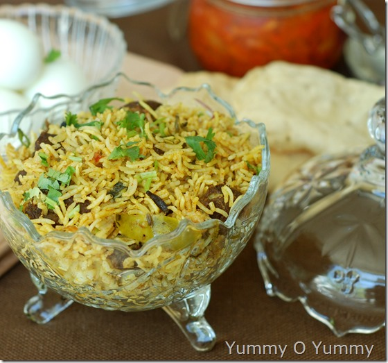 Mutton biriyani in pressure cooker
