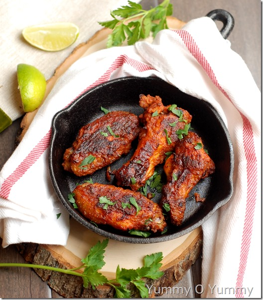 Baked masala chicken wings