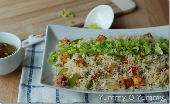 Chilli paneer fried rice1
