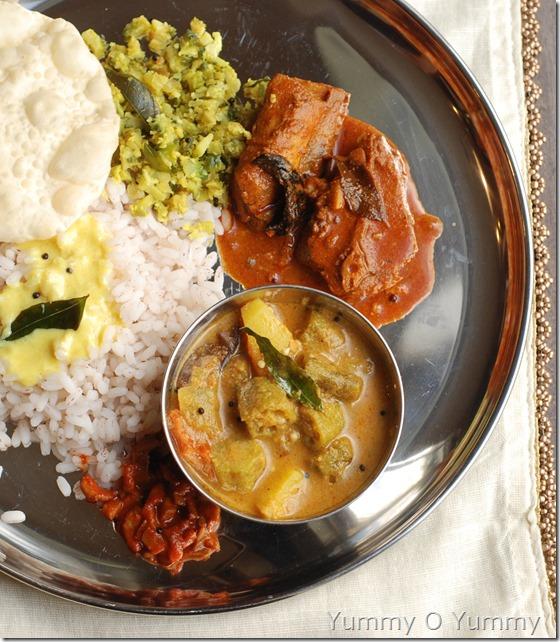 Vendakka potato curry