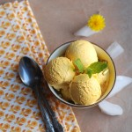 No-Machine Mango Ice cream