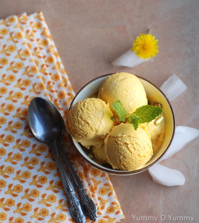 No-Machine Mango Ice cream