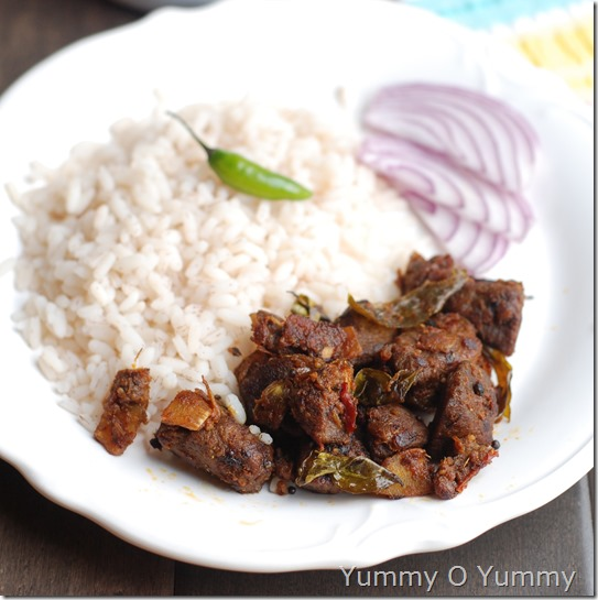 Mutton coconut roast