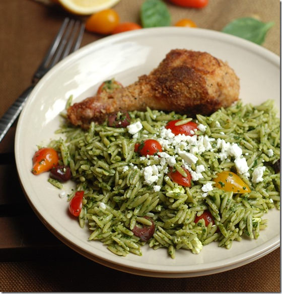 Spinach pesto pasta