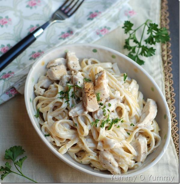 Chicken alfredo pasta