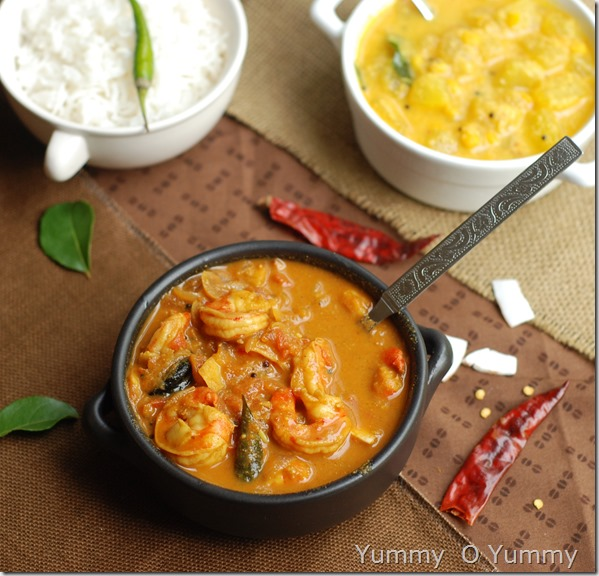 Chemmeen thakkali curry
