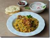 Chicken biriyani - Pressure cooker method