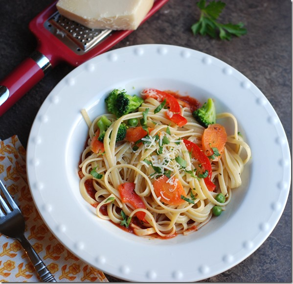Butter vegetable pasta