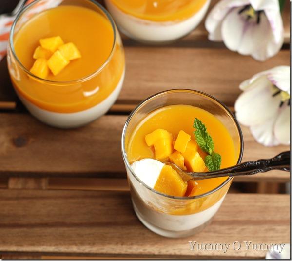 Mango vanilla pannacotta