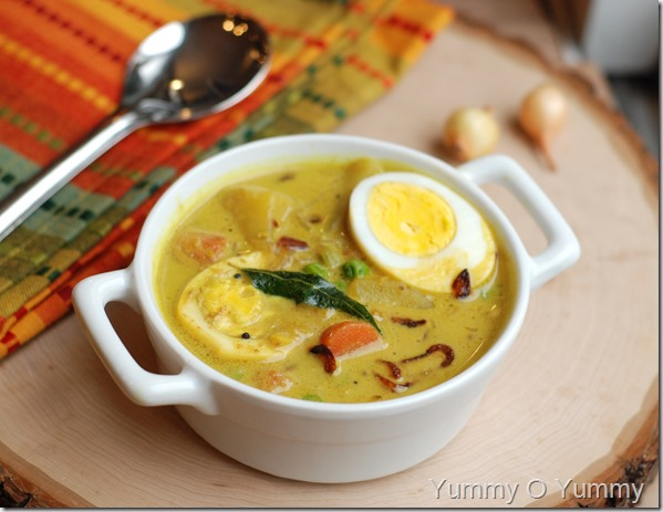 Egg and vegetable curry