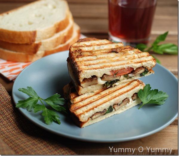 Portobello mushroom and fresh mozzarella cheese sandwich1
