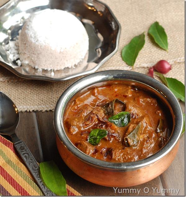 Varutharacha beef curry