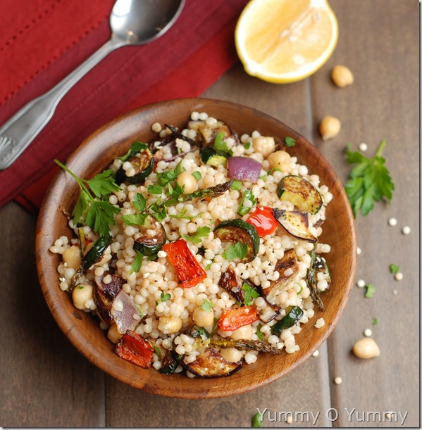Israeli coucous with roasted vegetables
