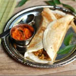 Easy Chicken Masala Dosa using Onion Tomato Gravy
