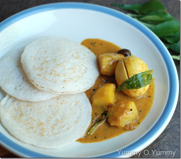 Kerala egg and potato curry