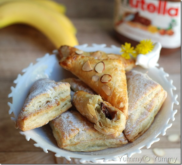 Nutella banana turnovers