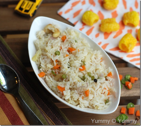 Vegetable ghee rice2