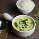 Bhindi Kadhi / Okra in Yoghurt Curry