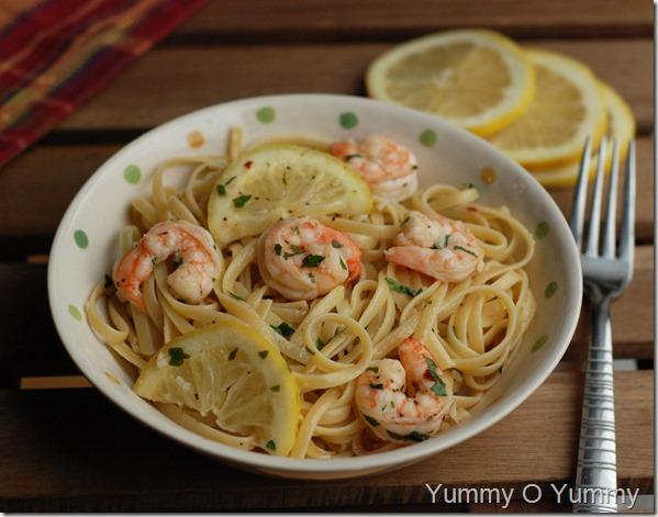 Linguine with shrimp1