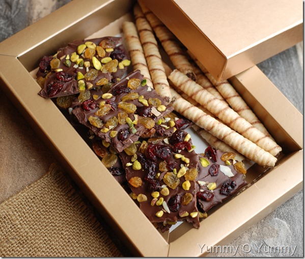 Chocolate bark candy
