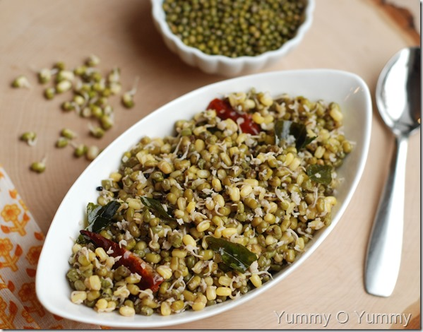 Sprouted Green Gram Sundal