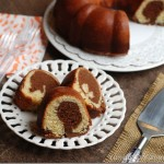 Mocha Walnut Marbled Bundt Cake