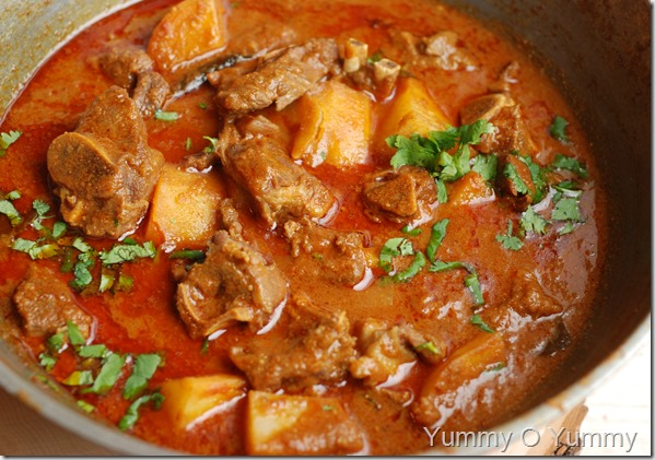 Mutton potato curry