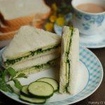 Cucumber Chutney Sandwich (Indian Tea Sandwich)