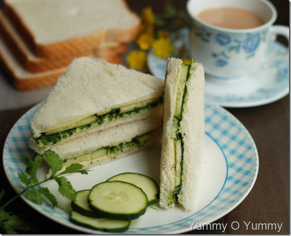 Indian cucumber sandwich
